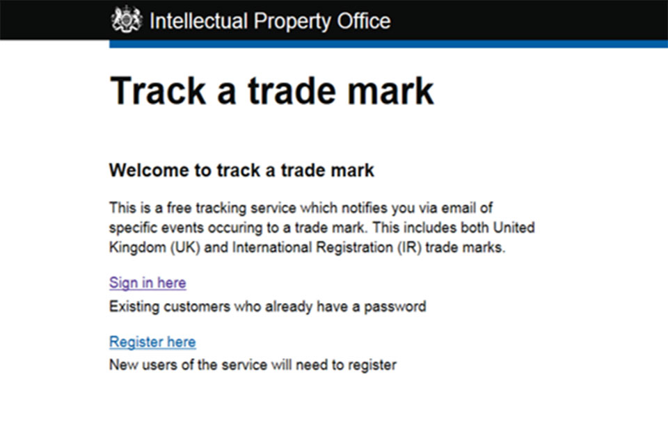 News story: Tracking the status and events of a trade mark