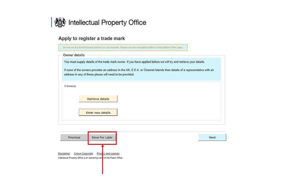 News story: Apply to register a trade mark