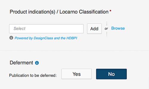 DesignClass integrated in EUIPO's design efiling